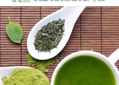 OMGTEA Website Design